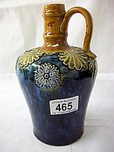 Royal Doulton saltglaze whisky flask (approx. height 8'' / 21.25cm)