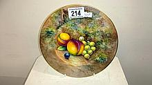 A Royal Worcester fruit cabinet plate signed J Cook