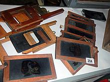 A rare collection of Victorian coloured movable slides