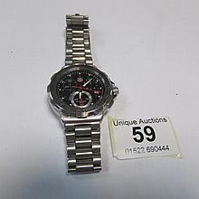 A genuine Tag Heur Gent's Tachymeter wrist watch