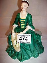 Royal Doulton figure of 'Lady from Williamsburg' HN 2228 (approx. height 6 1/4'' / 16cm)