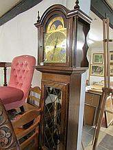 An oak Grandfather clock
