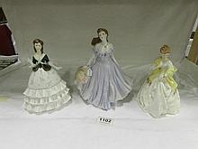 3 Royal Worcester figurines being Debutant, First Dance and Laura
