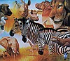 Hand signed giclee titled African Montage