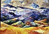 Painting o/c by Dolores Young Nevada artist  Mountain