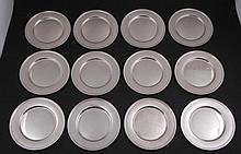 Set of 12 Alvin Sterling Silver 6 Inch Plates E49
