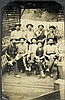 Antique Tintype Photograph Group 9 Men Outdoor Rare