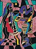 Night Music By Neal Doty Serigraph Signed 30 x 22 1/4