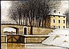 Jacques Deperthes Signed Art Print Winter Landscape