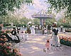 Christa Kieffer - A Parisian Carousel Litho on Canvas