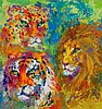LeRoy Neiman FAMILY PORTRAIT New Signed LE Art Big Cats
