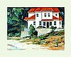 Villa on the Beach by Baker-Oil Signed