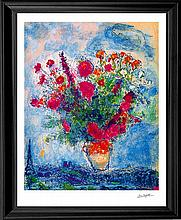 Marc Chagall Limited Edition Lithograph Bouquet over