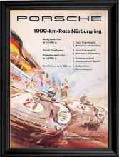 Car Racing print of the 1957 poster