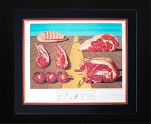 Salvador Dali Albert Field Hand signed and numbered Limited Edition Lithograph Diners with Gala