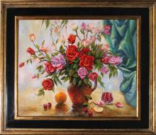 Arina-Original Oil-Still Life with Apple