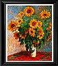 Monet Limited Edition Giclee Sunflowers