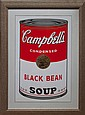 Andy Warhol-Serigraph-Campbell's Soup Black Bean