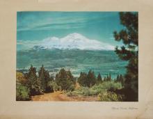 1937 lithograph Mt Shasta California