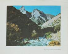 1937 lithograph Kings Canyon National Park California