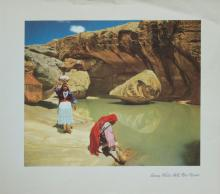 1937 lithograph Acoma Waterhole in New Mexico