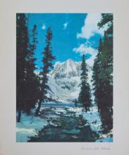 1937 lithograph Snowmass Lake Colorado