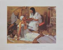 History of Medicine in Pictures Lithographs from 1953