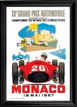 Car Racing print of the 1957 poster