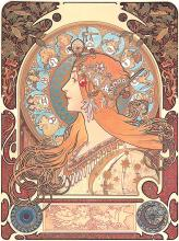 After Alphonse Mucha-Limited Edition Giclee White Star