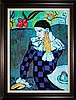 Pablo Picasso-Ltd Edition Harlequin Leaning on Elbow