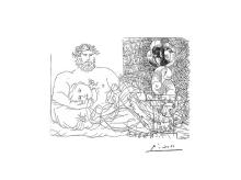 Pablo Picasso-Limited Edition Giclee Drawing