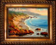 Rafael Baja Coastline Original Oil on Canvas