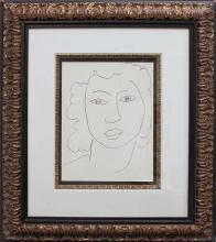 Matisse-Limited Edition Giclee-Portrait of Lady Drawing
