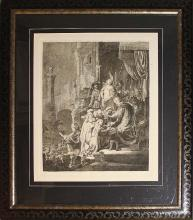 Rembrandt-Christ Pontious Pilate-Etching