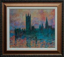 Claude Monet Embellished Giclee on canvas Limited