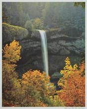 Silver Creek Falls Lithograph 1955