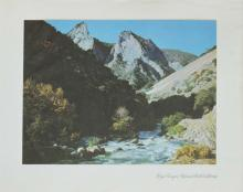 1937 lithograph Kings Canyon National Park California