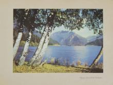 1937 lithograph Olympic National Park Washington