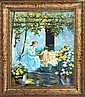 Cellini-Original Oil Painting-Bathtime