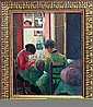 Bellini-Original Oil Painting-Girls Sewing