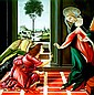 Hector Monroy Original Oil Annunciation of Angel Gabriel to Virgin Mary