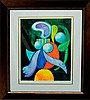 Pablo Picasso-Limited Ed Lithograph-Woman with Flower