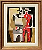 Pablo Picasso-Limited Edition-Two Harlequins