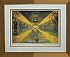 Salvador Dali Lithograph Railroad to Perdition