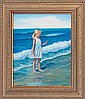 Rafael -Original Oil Hand Signed Girl at the Seashore