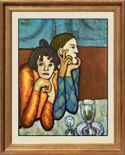 **Pablo Picasso-Harlequin and Companion Limited Edition