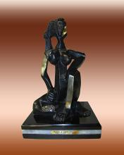 Pablo Picasso-Bronze Sculpture-Seated Woman
