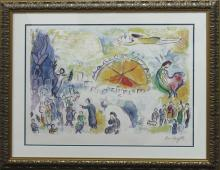 Marc Chagall-Ltd Ed lithograph-The Four Seasons
