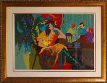 Maimon Limited Edition Serigraph At the Cafe