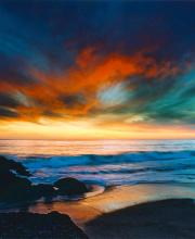 Rodionoff Ltd. Edition Photography on canvas-Coppery Sunset